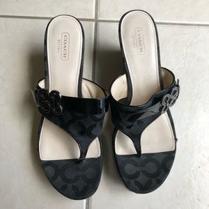 Authentic. EUC almost new Coach wedges